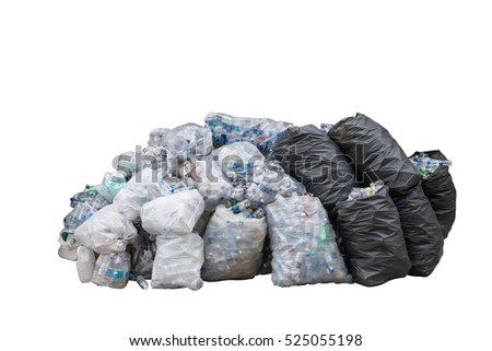 trash bag isolated on white background with clipping mask