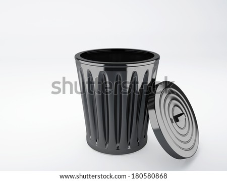 trash bin - stock photo