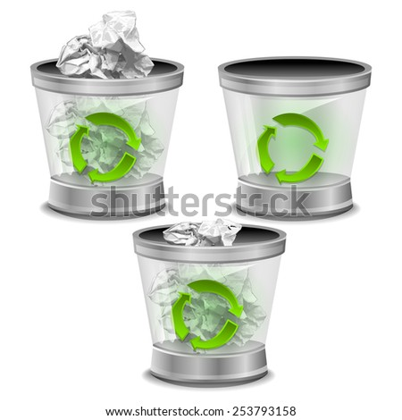 Trash bin illustration - stock photo
