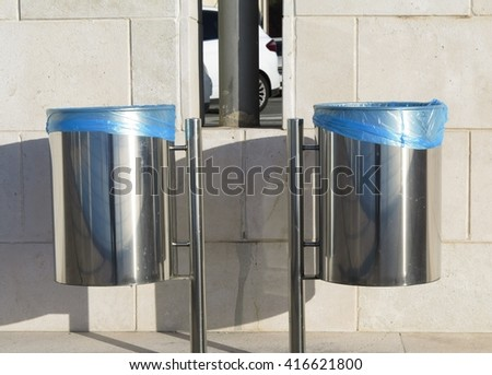 Trash bins - stock photo