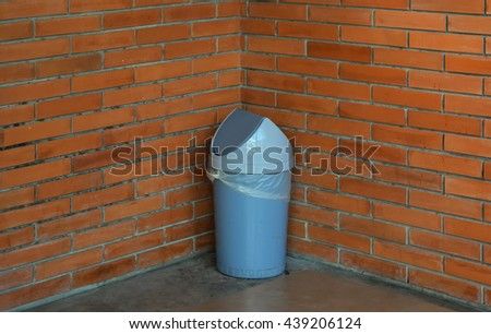 Trash brick wall - stock photo