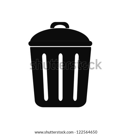 Trash can - stock photo