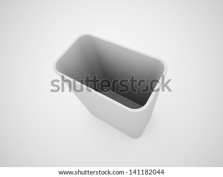 Trash can black and white rendered