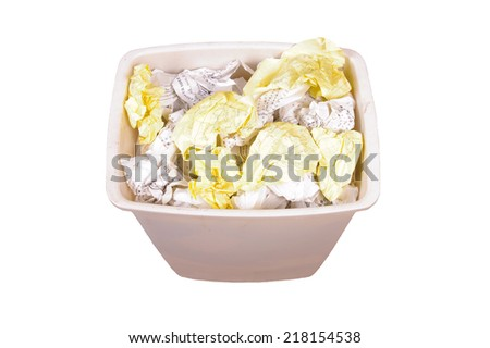 Trash can full of paper - stock photo
