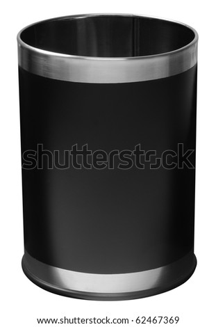 Trash can. Isolated - stock photo