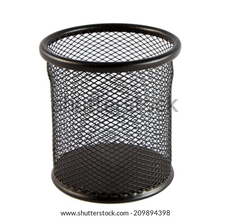 Trash can isolated on a white background - stock photo