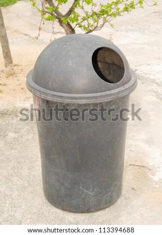 Trash in the park. - stock photo