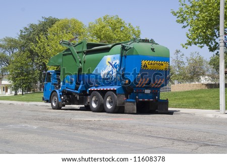Trash Truck - stock photo