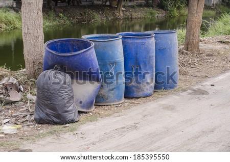 trashcan, a bin - stock photo