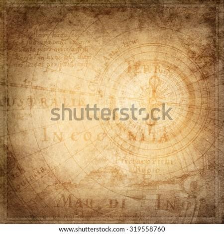 Travel and nautical theme grunge background - stock photo
