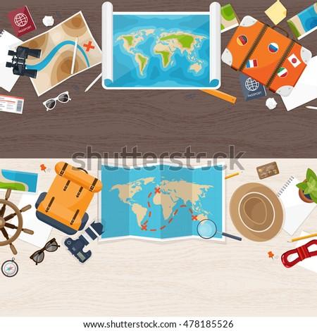 Travel tourism flat style world earth stock illustration 478185526 travel and tourism flat style world earth map globe trip gumiabroncs Choice Image