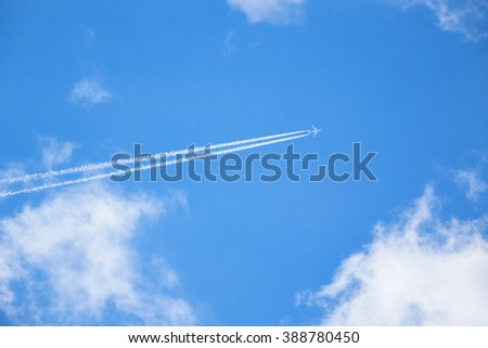 travel and vacation, a quick mode of transport, flying on an airplane