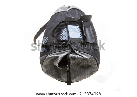 travel bag isolated on white background