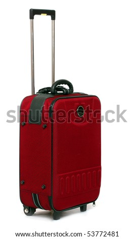 Travel bag - isolated on white background.