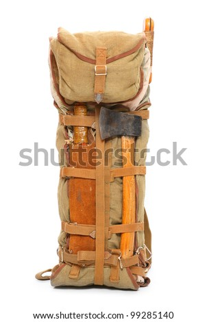 Travel bag on a white background. - stock photo