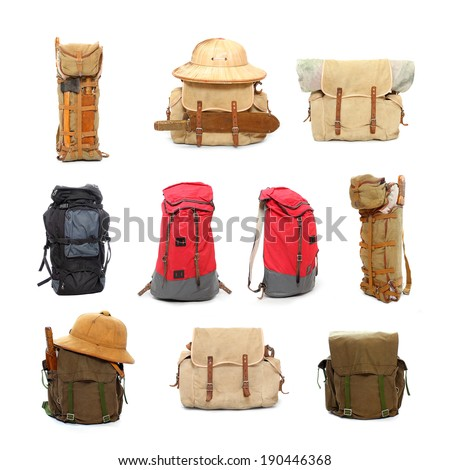 Travel bags and backpacks for leisure activities. - stock photo