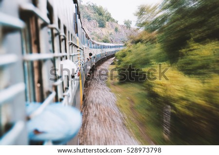 Travel by train in asia