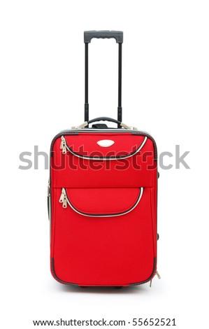 Travel case isolated on the white background - stock photo