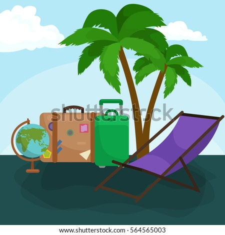Travel concept illustration, Tourism and vacation trip planning