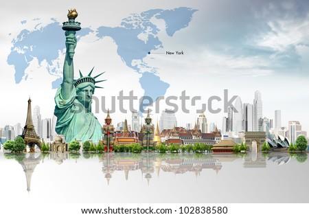 Travel concept, Liberty Enlightening the World - stock photo