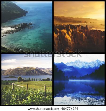 Travel Destination Cliff Suburb Nature Journey Concept - stock photo