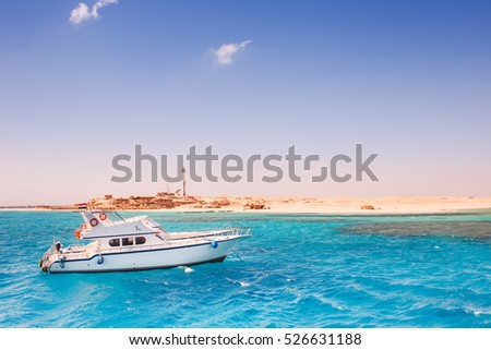 Travel destination, paradise island in Red Sea