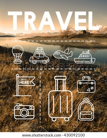 Travel Holiday Journey Exploration Graphic Concept - stock photo