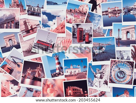 Travel in Europe, set of pictures - stock photo