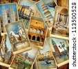 travel in Italy -vintage collage - stock photo
