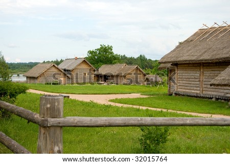 Travel in Russia. Ancient peasant household