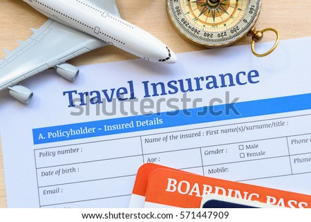 Travel insurance form put on wood stock photo 571447909 shutterstock travel insurance form put on a wood table many agent sells airplane tickets or travel thecheapjerseys Image collections