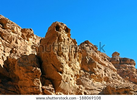 travel, israel, nature, desert, mountains, whimsical red rock in the form of giant owl