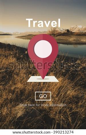 Travel Journey Destination Trip Vacation Concept - stock photo