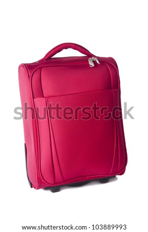 travel luggage isolated on white