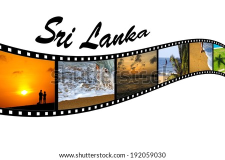 Travel Photo Film Strip of Sri Lankan Beaches