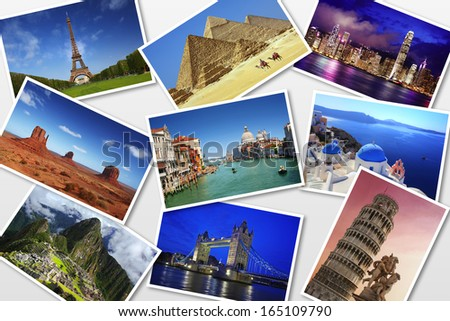 Travel photos - stock photo