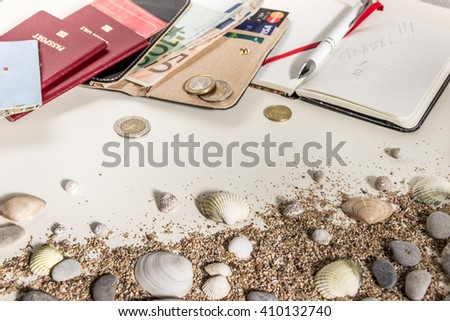 Travel planning. Preparing for travel, travel , trip vacation, tourism. .  - stock photo