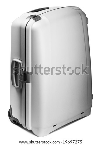 Travel plastic bag on white background with handle