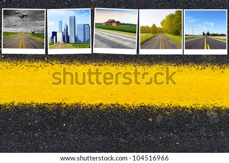 Travel Road Background