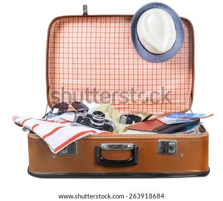 Travel, sunglasses, old. - stock photo