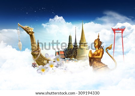 travel thailand concept - stock photo