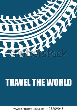 travel the world abstract background - stock photo