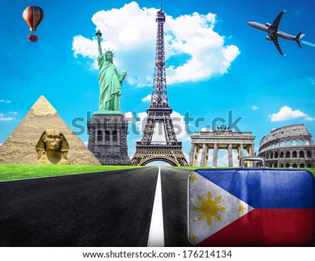 Travel the world conceptual image - Visit Philippines - stock photo