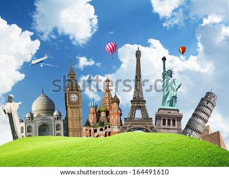 Travel. The world monument concept - stock photo