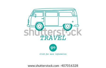 Travel Traveling Adventure Journey Destination Van Concept - stock photo