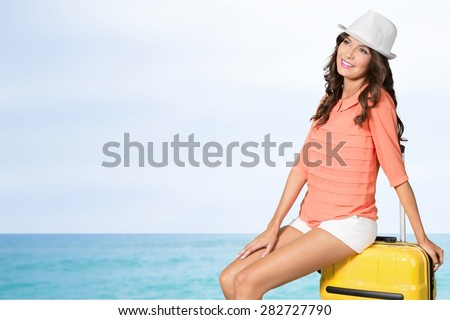 Travel, traveller, young. - stock photo