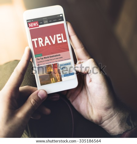 Travel Vacation Holiday Destination Journey Digital Concept - stock photo
