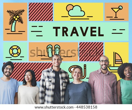 Travel Vacation Sunshine Relaxation Holiday Concept - stock photo