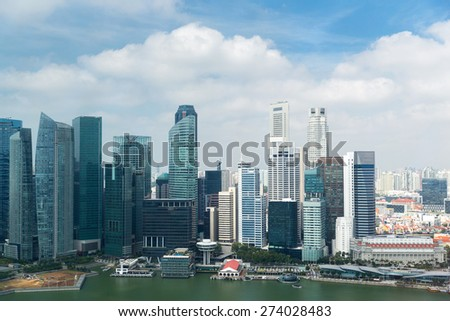 travel, vacation, tourism and luxury concept - beautiful view to bangkok city seafront