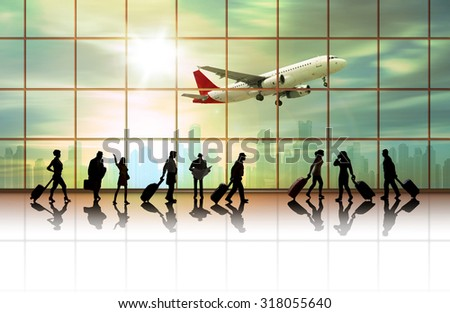 Traveler with a suitcase, concept - stock photo
